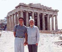 Prince Eugene III and Dr. Karras at the Parthenon.