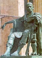 Statue of Constantine the Great in York, England where he was proclaimed Emperor by his 