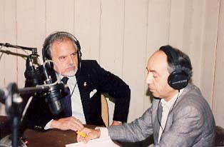 EPT Radio, General Directorate of Northern Greece, Kalamaria, Salonika, Greece, Gabriel Lampsidis      (right), Director Radio Broadcast and Dr. Mark Athanasios C. Karras.