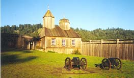 The Russian Orhtodox Chapel and grounds at Fort Ross.