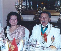 Pince Juan Arcadio, Grand Master of the Order of St. Eugene of Trebizond and Princess Maria Isabela.