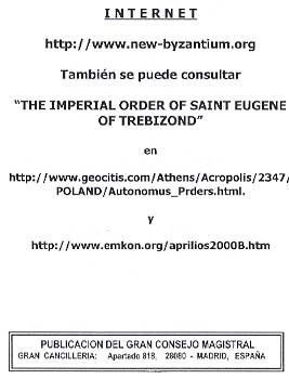Official Bulletin of the Order of Saint Eugene of Trebizond.