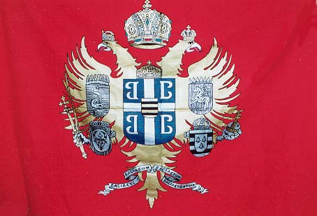 Standard bearing the Coat of Arms of the Imperial Byzantine House of Lascaris Comnenus  of Constantinople.
