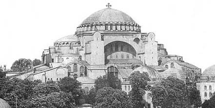 Constantinople: 'HAGIA SOPHIA - Church of Holy Wisdom.' Unencumbered by non-Christian symbols.